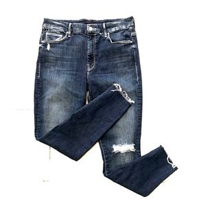 Mother NEW high waisted looker distressed jeans